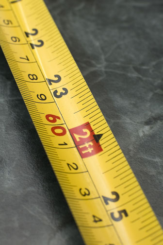 measuring tape with English and Metric measurements