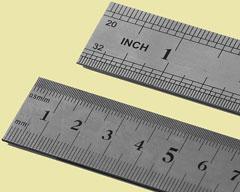 metric ruler and english ruler