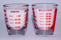 milliliters and ounces